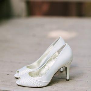 White Adrianna Papell Heels